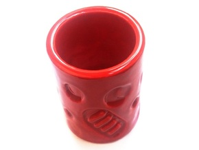 BloodyMoonshotMug in Gloss Red Porcelain