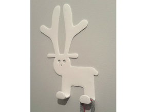 Wall clothes hanger - Rudi in White Strong & Flexible Polished