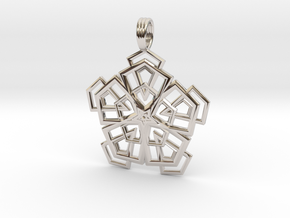PENTAGONAL DELTOHEDRON 2D in Rhodium Plated