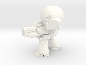 MERC SOLDIER-005 (AIMING) in White Strong & Flexible Polished