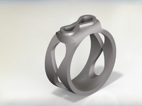 Infinity Ring in Stainless Steel