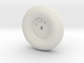 08A-LRV - Front Left Wheel in White Strong & Flexible
