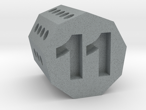 d11 Nonagonal Prism (spin�al tap novelty die) in Polished Metallic Plastic