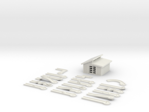 Minigolf - 1:160 (N scale) in White Strong & Flexible