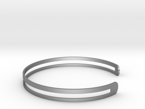 Bracelet Ø 73 Mm XL/Ø 2.874 inch in Raw Silver