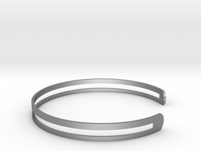 Bracelet Ø 63 mm Medium/Ø 2.48 inch in Raw Silver