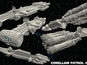 Corellian Patrol Cutter 1/270 in White Strong & Flexible