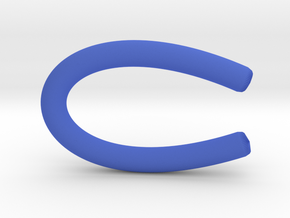 HeadPhoneClip in Blue Strong & Flexible Polished