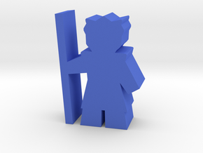 Game Piece, Bone Federation Warrior in Blue Strong & Flexible Polished