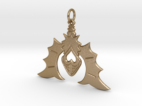 Batty For You Earring/Pendant (Single Unit) in Polished Gold Steel