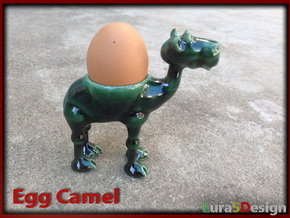 Egg Camel - porcelain eggcup in Gloss Oribe Green Porcelain