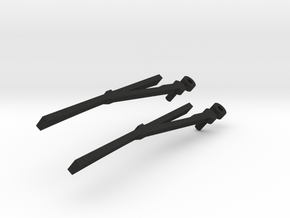 1/10 Scale RC wiper blades in Black Acrylic