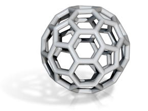 DRAW geo - sphere polygons A in White Strong & Flexible