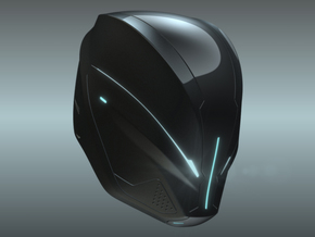 Part 1/3_Tron Legacy Quorras Helmet in White Strong & Flexible