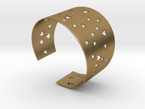 Starry Night Ø63 Mm M/2.48 inch in Polished Gold Steel