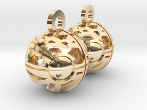 Craters of Phobos Earrings in 14k Gold Plated