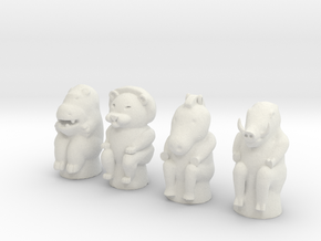 Animal Game Tokens in White Strong & Flexible