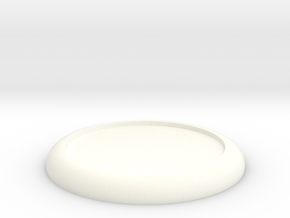 Mini Base Round Lip D40 in White Strong & Flexible Polished