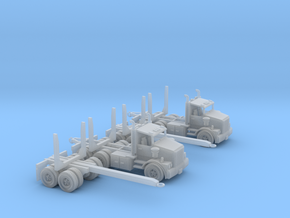 Two Logging Trucks Z Scale in Frosted Ultra Detail