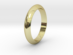 �19.22 mm Smooth Ring/�0.757 inch in 18k Gold Plated