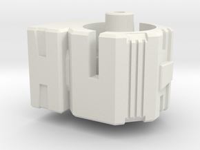 CW Brawl To Energon Combiner Port Adapter in White Strong & Flexible
