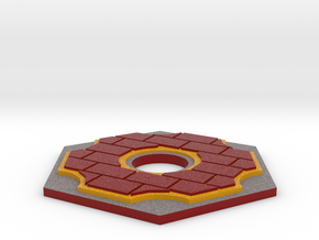 Catan Hex Tile Brick 79mm in Full Color Sandstone