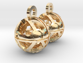 Craters of Phoebe Earrings in 14k Gold Plated