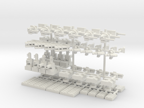 1/500 Modern Naval Weapons Pack in White Strong & Flexible