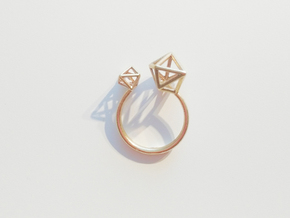 Double Tangle Ring - M in Raw Bronze