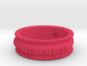 size 7 In God We Trust band in Pink Strong & Flexible Polished