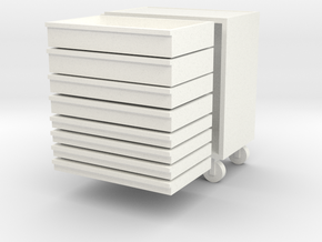 Tool Trolley 1/32 in White Strong & Flexible Polished