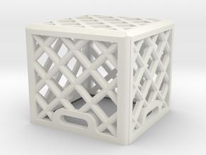 1:25 Scale Milk Crate (single) in White Strong & Flexible