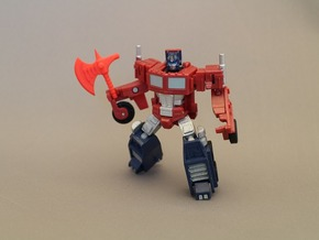 Energy Axe for Optimus Prime in Red Strong & Flexible Polished