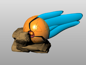 Samus Morph Ball Crashing in Full Color Sandstone