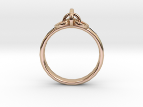 Ring for Joanne, Size H 1/2 in 14k Rose Gold Plated