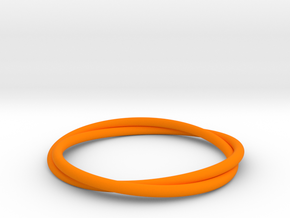 Bracelet Double in Orange Strong & Flexible Polished