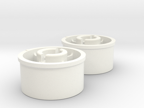 Kyosho Mini-Z Rear wheel with +1 Offset in White Strong & Flexible Polished