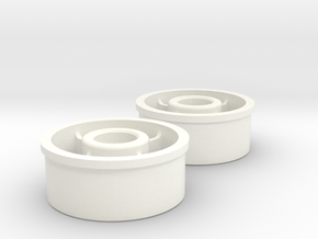 Kyosho Mini-Z Rear wheel with +0 Offset in White Strong & Flexible Polished