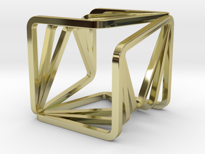 YOUCUBE S Pendant in 18k Gold Plated