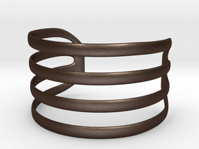 Bangled bracelet in Matte Bronze Steel