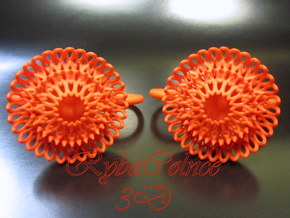 Plugs / gauges/ The Sunflowers 4 g (5 mm) in Orange Strong & Flexible Polished