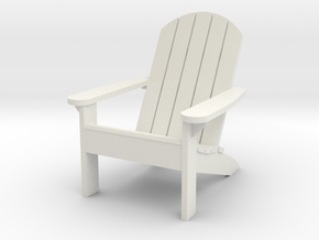 Camp Chair 1-12 (not full size) in White Strong & Flexible