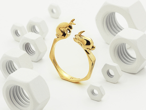 Nº01 Rabbit Ring (multiple sizes) in Polished Brass