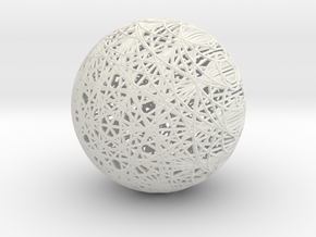 Epicycloid Sphere, 12 cusps in White Strong & Flexible