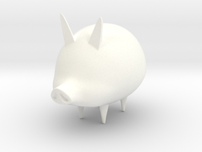 toon Pig in White Strong & Flexible Polished