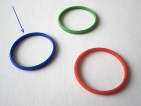 Nested Rings: Inner Ring (Size 10) in Blue Strong & Flexible Polished