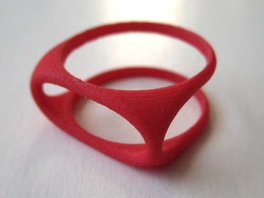 Nested Rings: Outer Ring (Size 10) in Red Strong & Flexible Polished