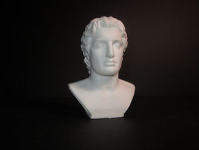 Alexander the Great (356 – 323 BC) in White Strong & Flexible Polished