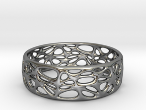 Organic Bracelet 65mm (001) in Polished Silver