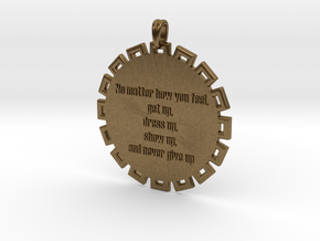No Matter How You Feel | Jewelry Quote Necklace in Raw Bronze